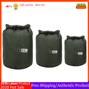 50L Outdoor Foldable Waterproof Barrel Dry Bag Storage Carrying Camping Beach