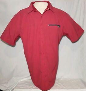 Columbia Omni Shade Sun Protection Snap Buttons Men's XXL Red Fishing Shirt