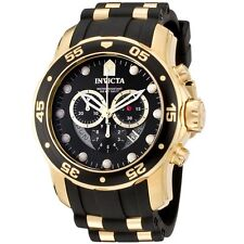 Invicta Men's 6981 Pro Diver Collection Chronograph Black and Gold Watch