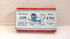 BOX LION J Pen London dip ink pen vintage