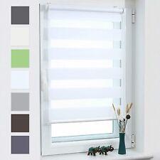 Doppelrollo Seitenzugrollo Klemmfix ohne Bohren Rollos für Fenster Tür Duo Rollo