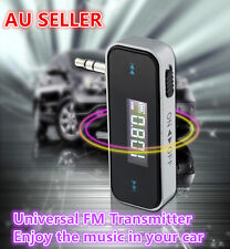 FM Radio Transmitter 3.5mm Aux Jack for HTC Samsung Nokia iPhone 6 Plus 5S 5 AU