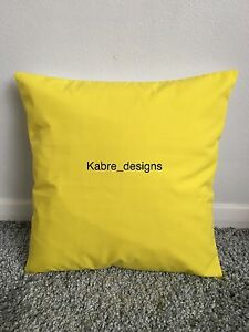 """1 NEW 10"""" PLAIN BRIGHT YELLOW COTTON CUSHION COVER OTHER COLOURS SIZES AVAILABLE"""