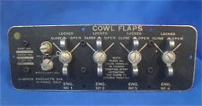 WWII Boeing B-17 Flying Fortress Cowl Flap Cockpit Control Panel,  Original