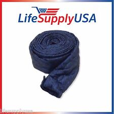 35 FT PADDED QUILTED BEAM ZIPPER CENTRAL VACUUM HOSE COVER HOSE SOCK 35 FEET