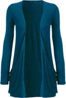 Ladies Long Sleeve Plain Printed Open Front Boyfriend Cardigan Slouch Pocket