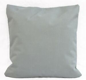 PL15a Ash Silver Grey Canvas Water Proof Outdoor Cushion Cover/Pillow Case Size