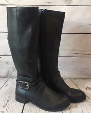 8d2ab02a5644 Life Stride 6W Black Tall Boots SUBTLE Wide Calf Comfort 1