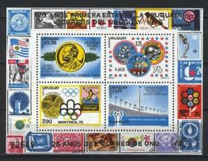 Soccer 1978 C27 MNH Uruguay Block Nobel Olympic Games CV 45 eur