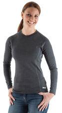 Abbigliamento sportivo da donna grigia con manica lunga