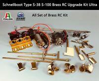ITALERI Schnellboot Type S-38 S-100 Brass RC Upgrade Kit Ultra 5620 5603