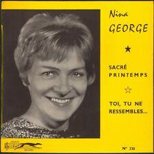 NINA GEORGE SACRE PRINTEMPS RARE 45T EP BIEM FRANCE RECORD 336