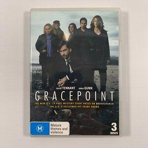 Gracepoint Season 1 (DVD 2014 3 disc set) David Tennant Jacki Weaver Region 4