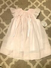New w Tags NWT Will'beth Smocked Dress, Light Pink Size 18m Easter Christening