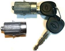 2007-2014 Avalanche/Tahoe OEM Pair Door Key Lock Cylinders Switch W/2 Logo Keys