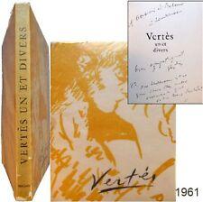 Marcel Vertès un et divers 1961 EO+envoi Claude Roger-Marx Vialetay Trinckvel