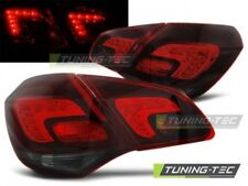 Coppia Faro Fanale Anteriore Tuning OPEL ASTRA J 10- HATCHBACK Fume' Rosso LED