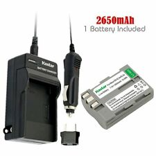 Kastar EN-EL3e Battery & Travel Charger for Nikon D70s D80 D90 D100 D200 D3