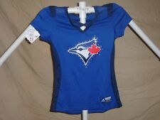 TORONTO BLUE JAYS MLB Fan Fashion JERSEY/Shirt  by MAJESTIC Womens Small NWT $55