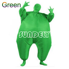 Inflatable Fat Chub Suit Second Skin Fancy Dress Party Costume Green