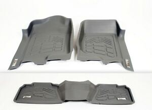 COMBO Front & 2nd Row Sure-Fit Floor Mats for a 2017-2020 Nissan Titan / TitanXD