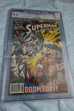 SUPERMAN MAN OF STEEL  # 19 CGC GRADED 9.6 WHITE PAGES DOOMSDAY SUPERMAN