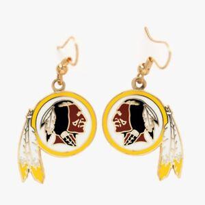 Washington Redskins Wincraft NFL Team Logo Wire Earrings FREE SHIP