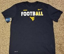 West Virginia Mountaineers Large Nike Dri-Fit Football T-shirt! New with $35 tag