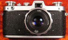 "CAMERA ""Zarya"" FED 35mm FILM + LENS Industar-26m 2.8/52 screw mount M39+Cap+Case"