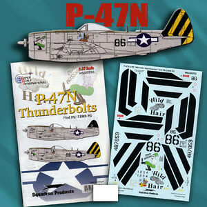 P-47 N Thunderbolts of 73 FS, 318 FG Wild Hair (1/32 decals, Superscale 320250)
