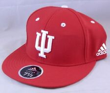 Indiana University Hoosiers Adidas Size 7.5 Fitted Hat Ball Cap Flat Brim