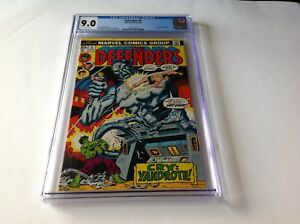 DEFENDERS 5 CGC 9.0 WHITE PAGES ORIGIN OF VALKYRIE MARVEL COMICS