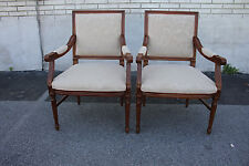 Great Pair of Italian Louis XV Side, Fireside, Armchairs, New Upholstery