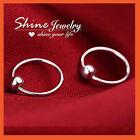 925 STERLING SILVER MENS WOMEN KIDS BALL HOOP SLEEPER EARRINGS EAR BODY PIERCING