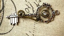 CHIAVE Steampunk Argento Anticato Stile Vintage Jewellery Supplies