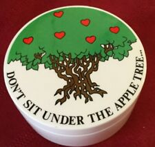 Fitz and Floyd Trinket Box Don't Sit Under The Apple Tree.w/Anyone Else But Me