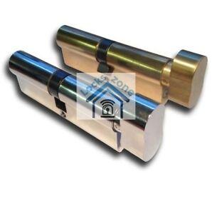 Euro Thumbturn Cylinder Barrel Lock UPVC Doors Anti Pick, Drill  5, 5 Pin 3 Keys