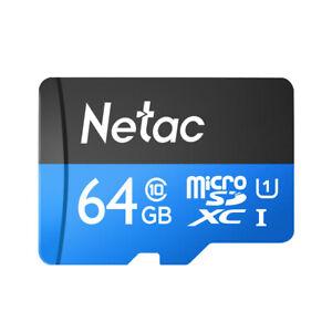 Netac P500 Class 10 64G Micro SDXC TF Flash Memory Card Data Storage High G5I6