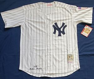 Mickey Mantle #7 New York Yankees Stitched Button Down Baseball Jersey Size Med