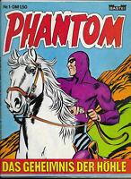 Phantom Nr.1 von 1974 - Z1-2 BASTEI KRIMI COMIC-HEFT Lee Falk