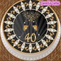 """MALEFICENT MAGIC PARTY 7.5/"""" PERSONALISED ROUND EDIBLE ICING CAKE TOPPER"""