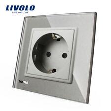 Livolo Grau Glas Steckdose Touch Lichtschalter Wandsteckdosen Wechselschalter