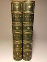 1846 - 1861 HOODS OWN THOMAS HOOD 2 VOLS LEATHER HUMORIST POET CARICATURIST
