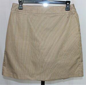 Womens New Adidas Stretch ClimaCool Skirt Skort Tennis Golf Tan/white Size 4