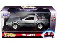 """DELOREAN DMC (TIME MACHINE) """"BACK TO THE FUTURE"""" 1/32 DIECAST MODEL JADA 32185"""