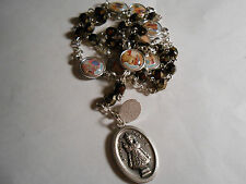 Child Jesus Chaplet (6 mm Iris gold faceted glass bead with medals)