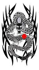 Tattoo style Asian Dragon  Design  iron on transfer
