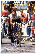 Greg lemond + + autógrafo + + Tour de France ganador + +