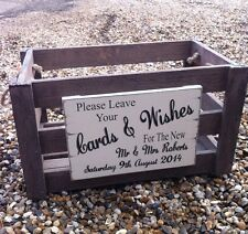 Distressed Shabby Wedding Sign And Rustic Crate Cards Chic