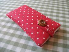 Handmade Cath Kidston Mini Dot Red iPhone 6 / 6 Plus Fabric Padded Case